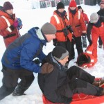 Chief scientist sledding