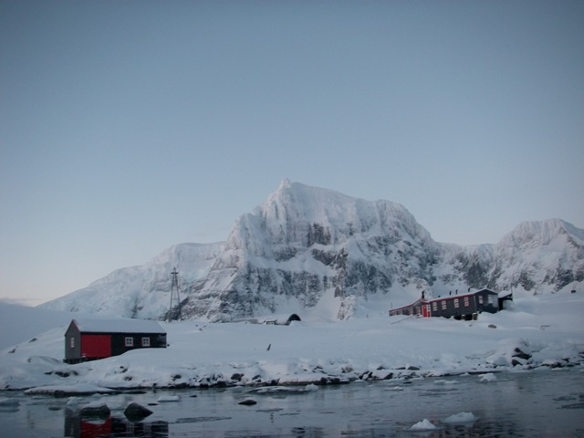 Antarctica pyramids for Port lockroy