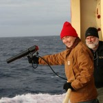 (12) Reny and Pat dropping an XBT in the Drake Passage
