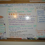 (59) The Palmer Station white board from Wed., May 13th