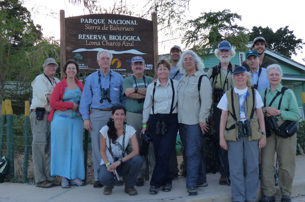 Carolina Bird Club members at Sierra de Bahoruco National Park Office, Puerto Escondido, Dominican Republic