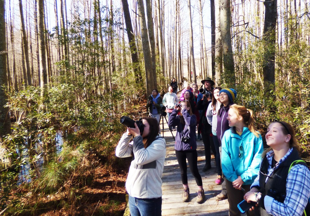 Duke Students at Mattamuskeet National Wildlife Refuge