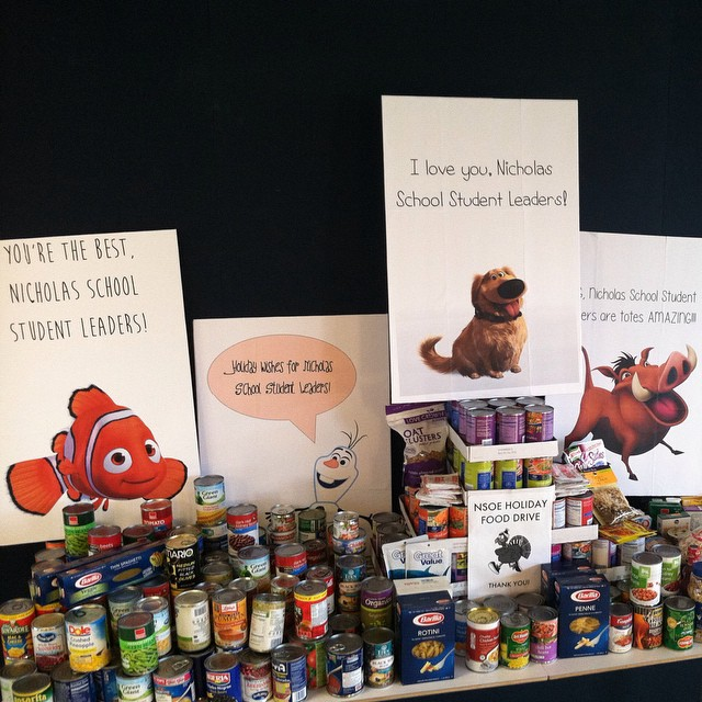 The most thoughtful posters and canned goods donations from the best staff a masters student could ask for!