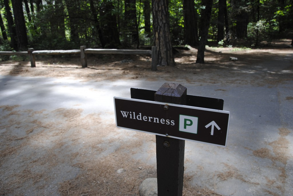 parking for the wilderness