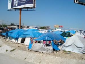 Haitian refugee camp
