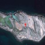 A close-up of Isla Raza on Google Map