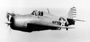 This is an F4F Wildcat, the plane that George Junkin flew in the Battle of Midway
