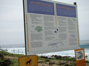 Entrance Sign for Kaena Point Nature Reserve