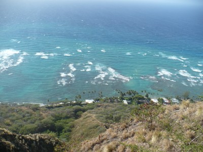 One of the incredible views from the summit of Diamond Head.