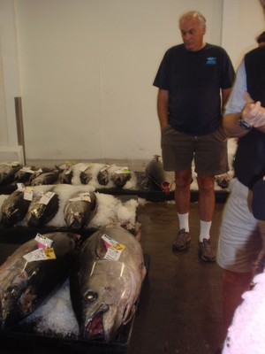Sean Martin, discussing the process with a bigeye tuna