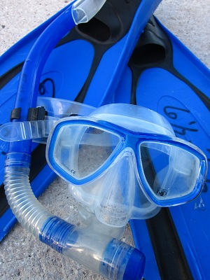 Some of our gear we used for snorkeling.