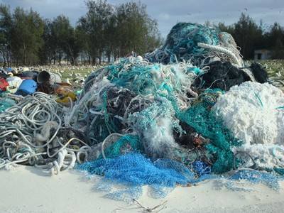 Rope and Fishing Nets Collected on Midway