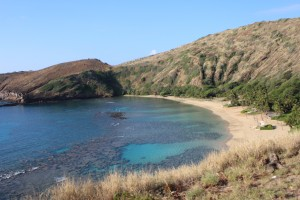 A rare empty Hanauma Bay