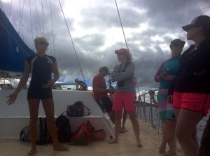 Hawaii Nautical crew member, Julia, talking about Dolphin SMART.
