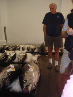 Sean Martin, discussing the process with a bigeye tuna