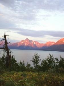 Sunrise over Jackson Lake