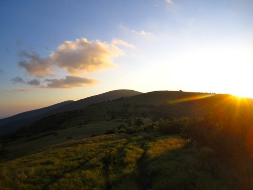 I needed to make it to the top of that bald before the sun set!