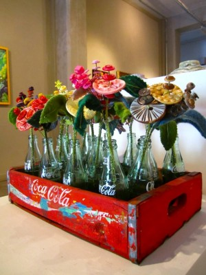 Coke Bottles with Flowers