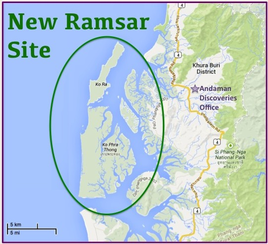 The AD office and the New Ramsar Site.