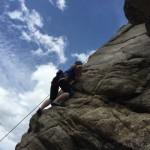 Rock climbing in Boulder Canyon.