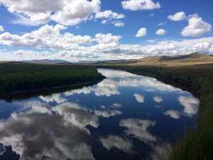 The Red Rock River, our first site in the beautiful Centennial Valley of Montana