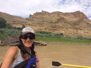 Enjoying traveling down the White River to get to the last sample site of the hitch
