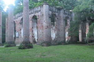 The remnants of Old Sheldon Church.