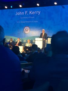 Secretary of State John Kerry speaking at Our Ocean