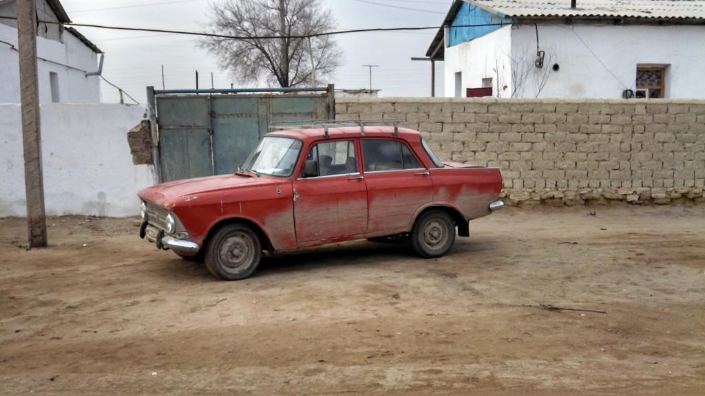 A Lada in Moynaq, Uzbekistan.