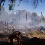 Fire in Wereldsend Camp, Namibia. Photo by Leanne Deschenes.