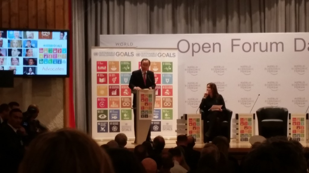 Ban Ki-Moon introduces the UN Sustainable Development Goal Advocates.
