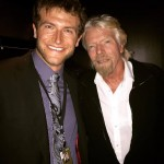 Xander Kent and Richard Branson.