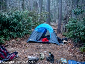 camping, linville gorge, tent, north carolina
