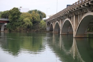 lady bird lake, austin, texas, green space, bridge