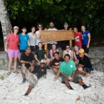 The class and our Palauan teachers at Ulong Island.