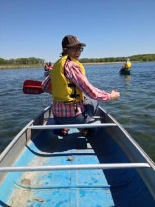 Megan canoe