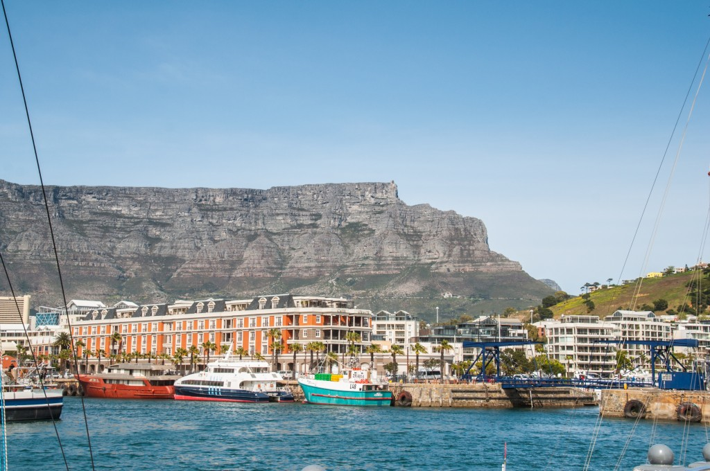 Table Mountain from the waterfront. After weeks of being isolated as a group, seeing so many other people in Cape Town was quite a shock, but much appreciated.