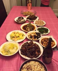 Chinese New Year dinner - nothing like mom's cooking.