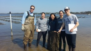 The class with Dr. James Morris, invasive species expert at NOAA but also oyster farmer expert at home in Sea Level.