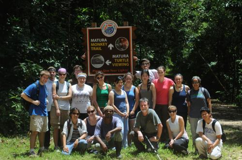 Matura Forest Howler Monkey Hike Group Shot