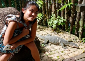Angie finds a friend at Sungei Buloh.