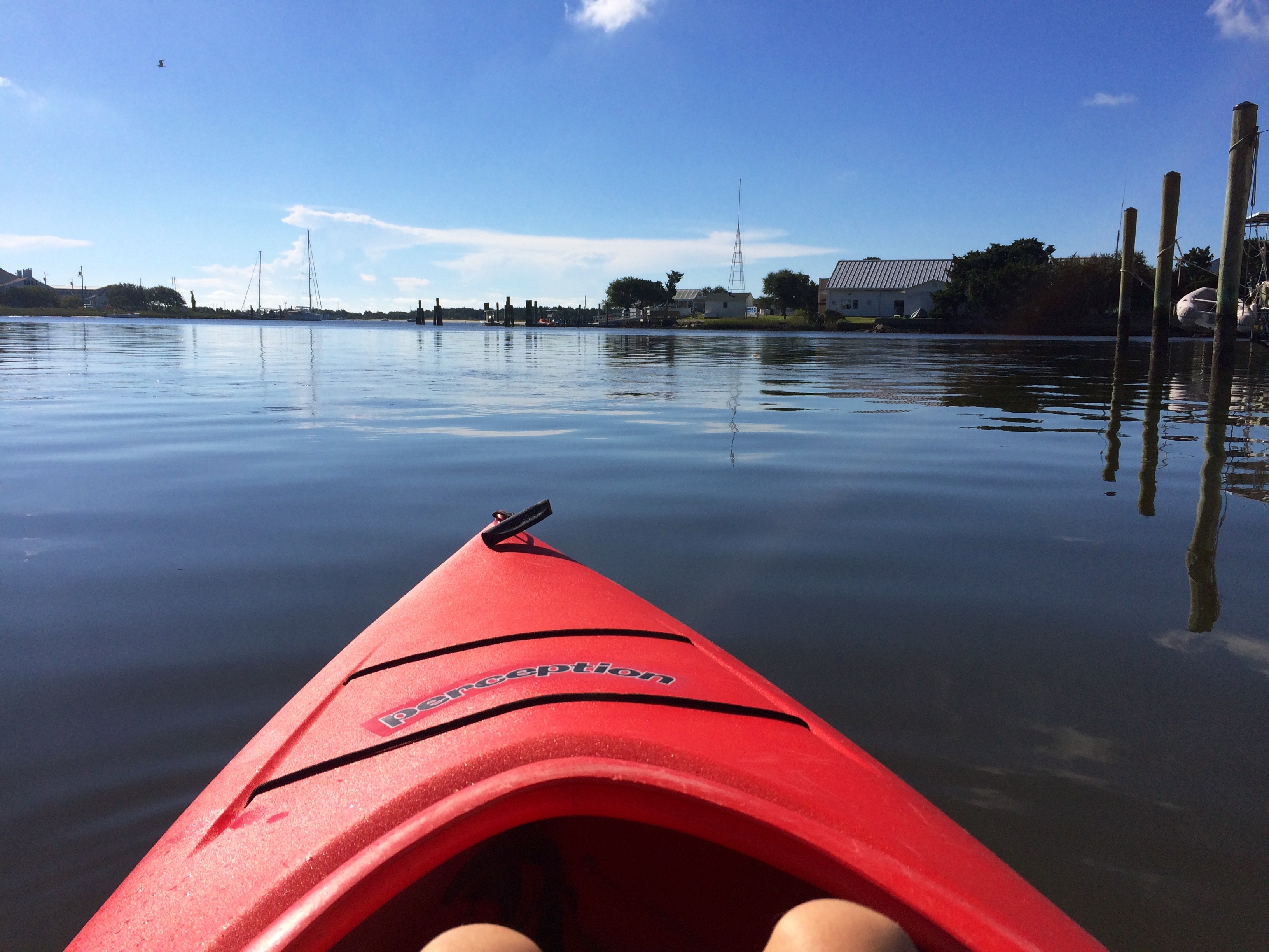 Kayaking to the Duke Marine Lab