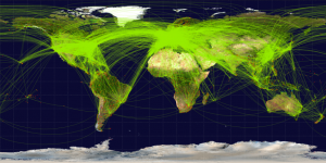 Example of a graph of an air-travel network, from Stevie's website (linked above).