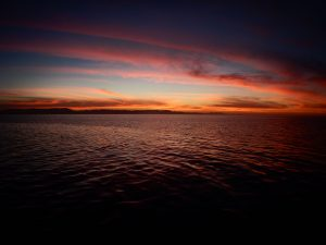 Sunset over Baja California Sur from the Gulf of California