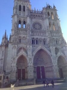 This is where I was about a year ago: exploring the cathedral at Amiens, France.
