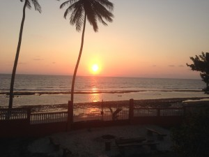 Our first night in Gabon provided us with a beautiful sunset view.