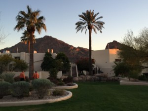 A view of Camelback Mountain from the resort where GreenBiz was held.
